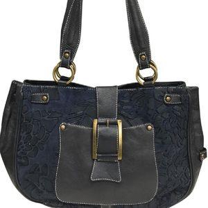 Puntotres thick leather Shoulder bag